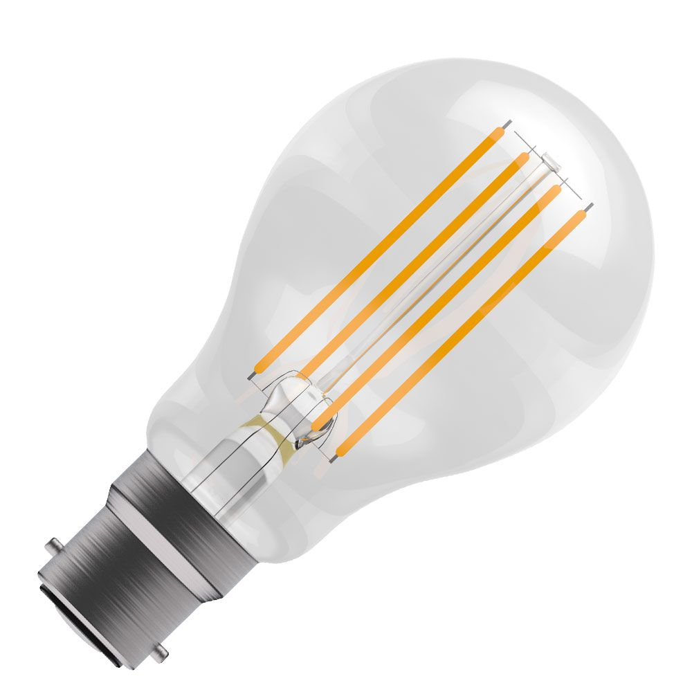 Osram Led Filament Classic 40w Bc Light Bulb At Homebase Co Uk: BELL 05018 Classic LED Filament Bulb 6w Non-Dimmable BC/B22