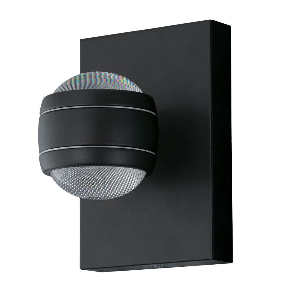 Black Ornate Wall Lights : EGLO 94848 SESIMBA LED Decorative Up/Down Black Wall Light