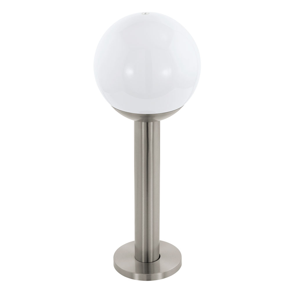 Eglo 97248 Nisia C Connect Controlled Rgbw Steel Short Globe Post Light