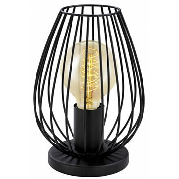 Vintage Wire Cage Table Lamp Black Newtown Eglo 49481