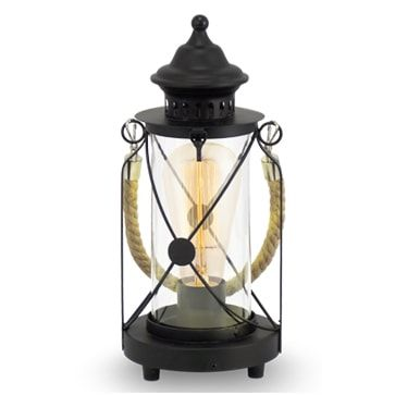 Eglo 49283 Braford Hurricane Lamp Black