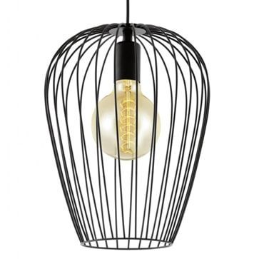 Eglo 49472 Newtown Black Wire Cage Pendant
