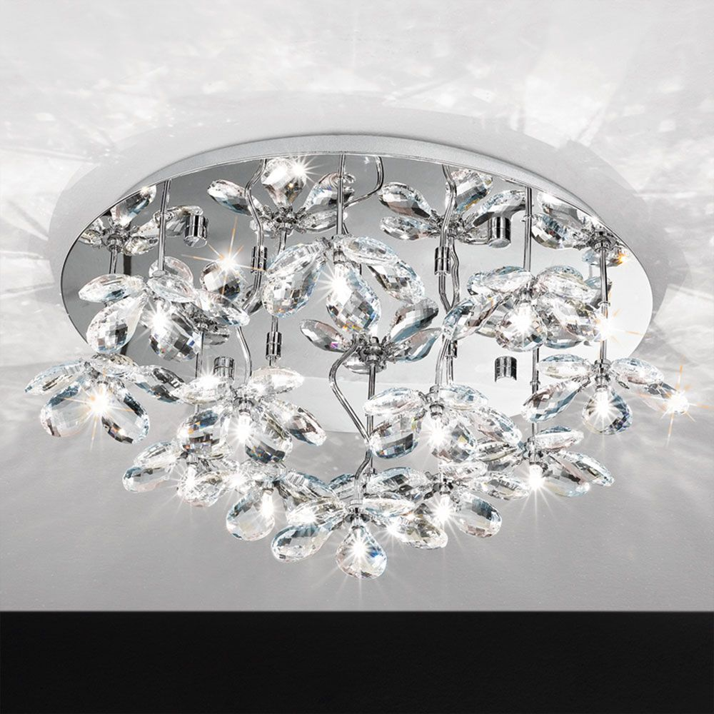 wide ceilings crystal com lights dp velie amazon round ceiling light