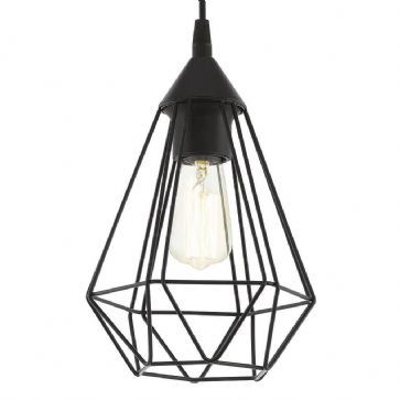 Eglo 94187 Tarbes Single Black Pendant