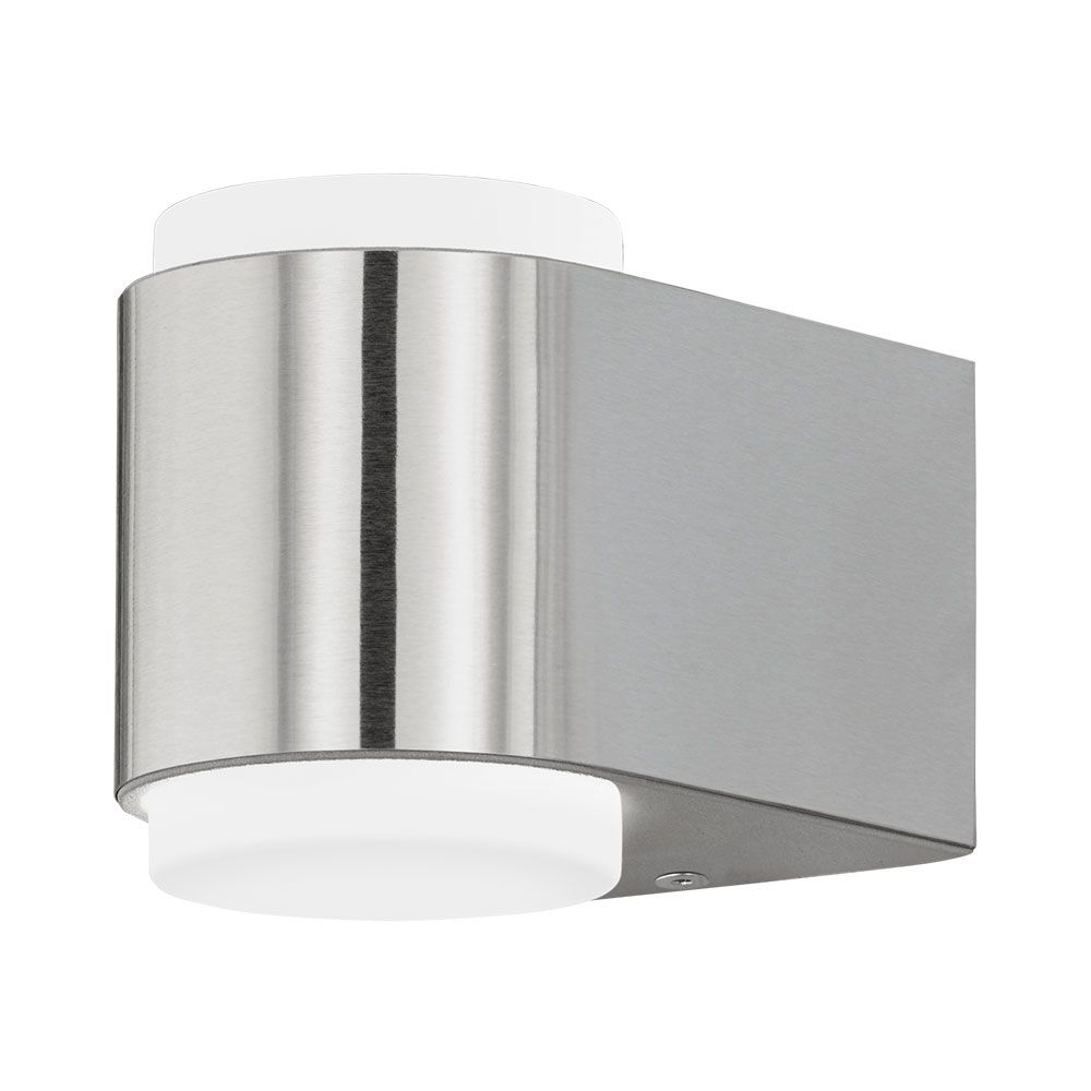 Eglo 95079 briones led up down wall light stainless steel audiocablefo