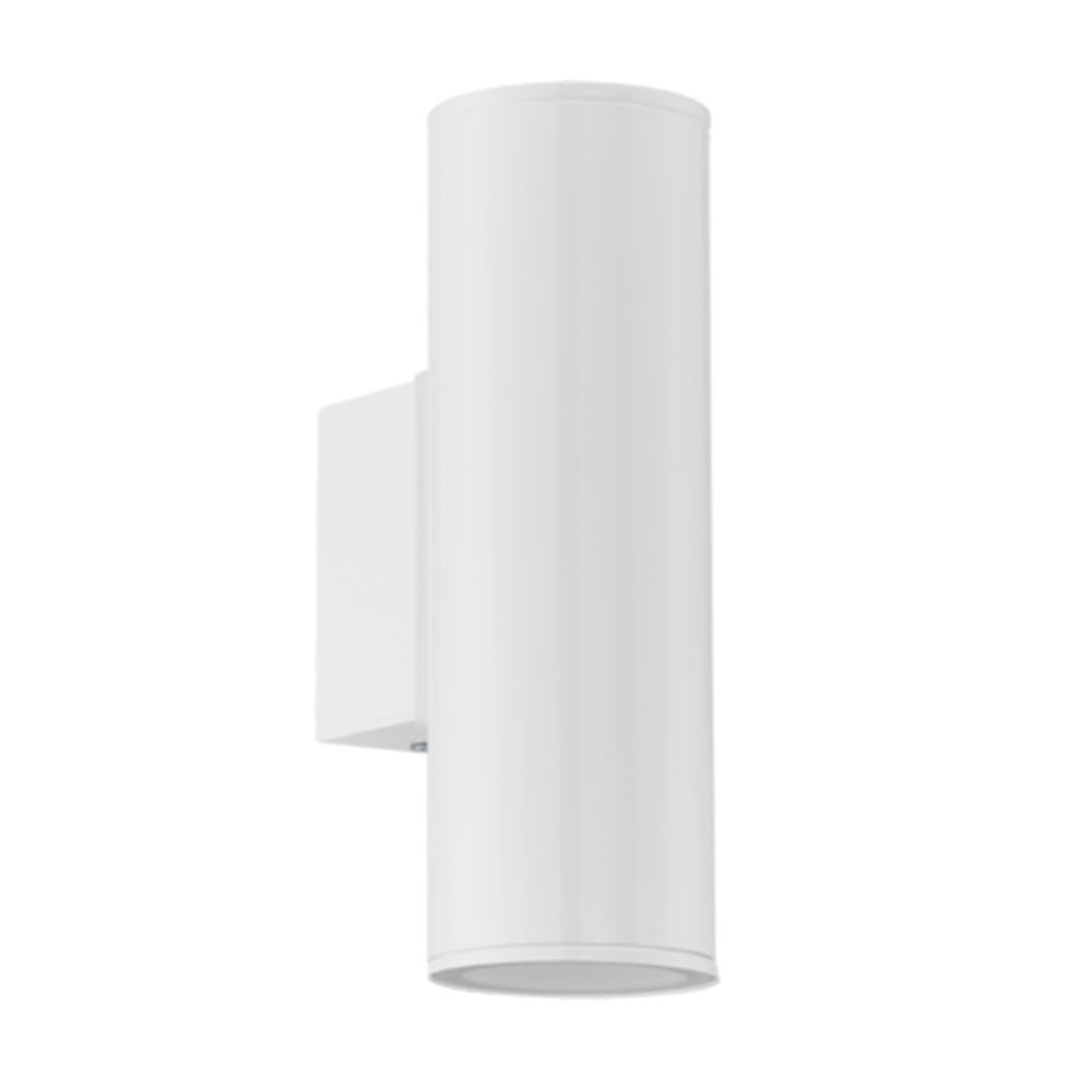 Eglo 94101 riga led gloss white led up down wall light - Decorative led wall lights ...