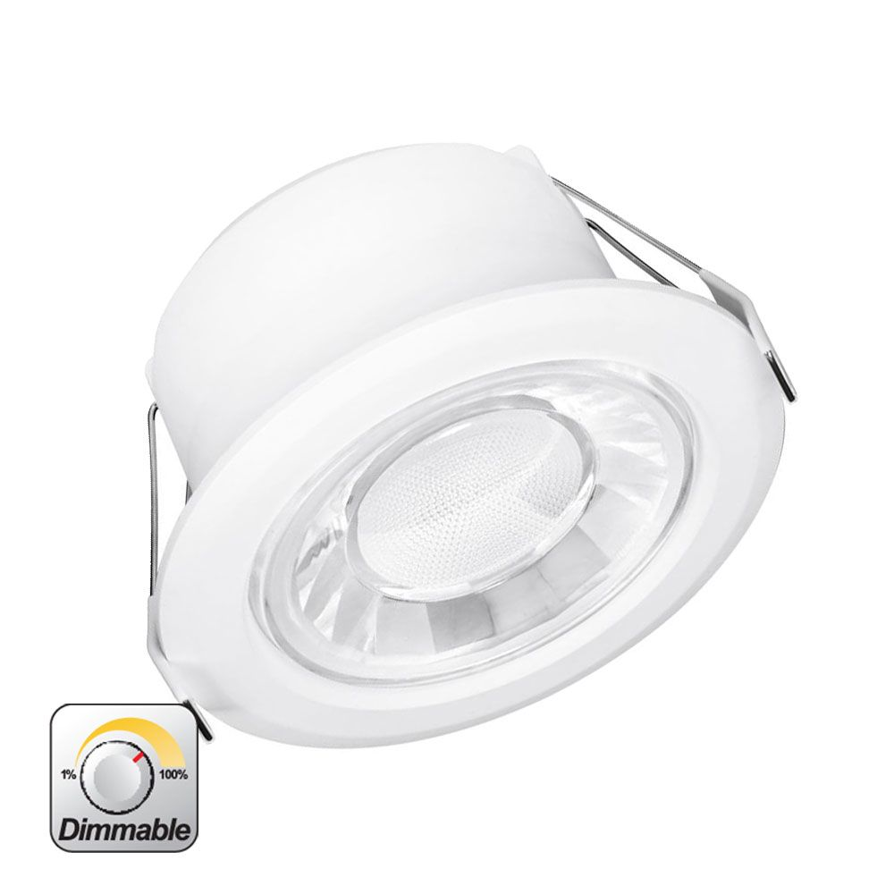 Enlite Spryte 10w Fixed Integrated Led Downlight Cool White