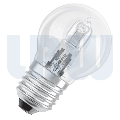 Halogen 45mm Round Bulb 28w Screw Cap Clear