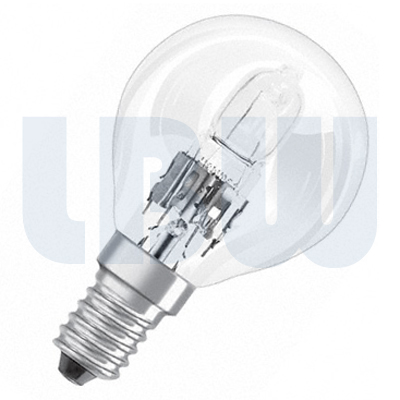 Halogen 45mm Round Bulb 28w Small Screw Cap Clear