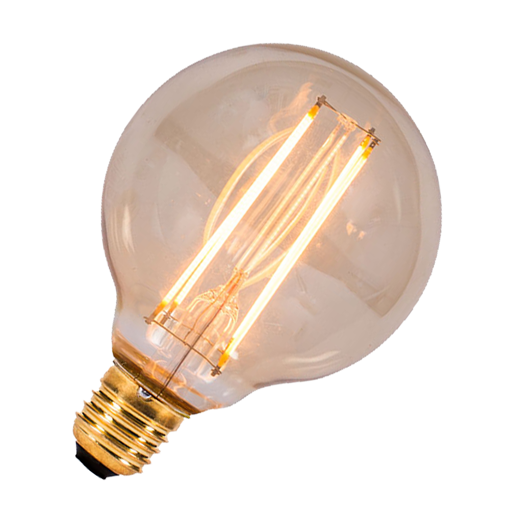 Led Vintage Filament Globe 80mm Bell Es 4w Very Warm White